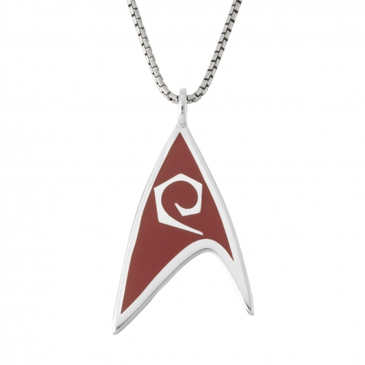 Star Trek Delta Enamel Necklace - Red