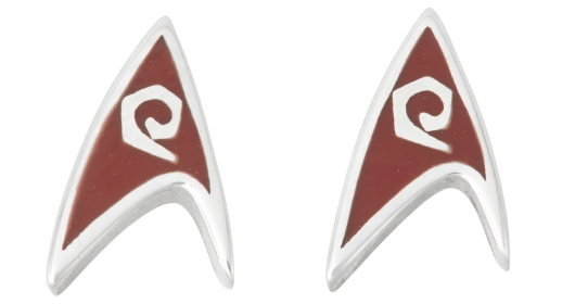Star Trek Delta Enamel Stud Earrings Red
