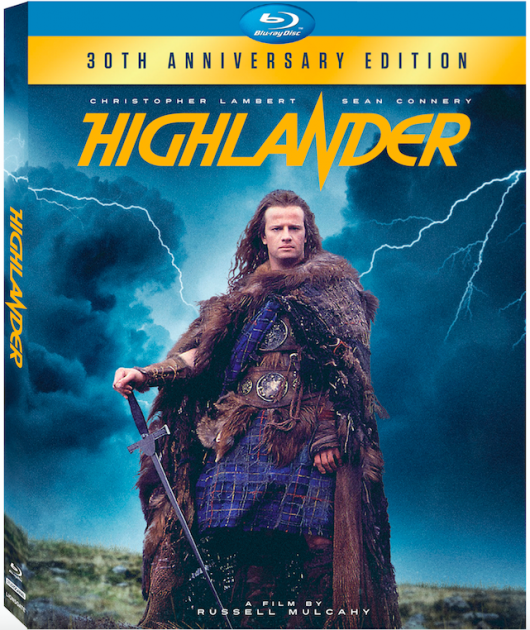 Highlander 30th anniversary Blu-ray box art