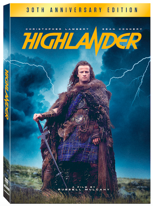 Highlander 30th anniversary DVD box art