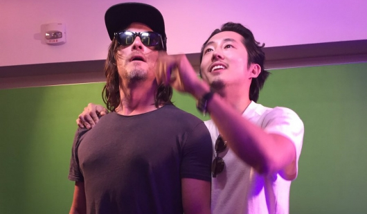 SDCC 2016 Norman Reedus (Daryl) and Steven Yeun (Glenn) The Walking Dead