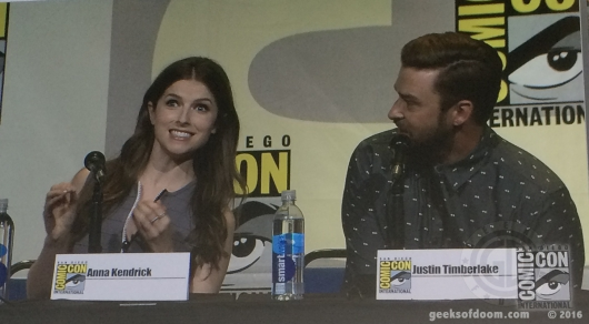 SDCC 2016 DreamWorks Trolls panel with Anna Kendrick and Justin Timberlake