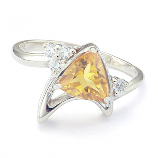 Star Trek Trillion Ring Citrine