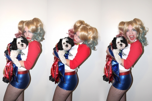 Harley Quinn cosplay - Sarah triptych with Sophie