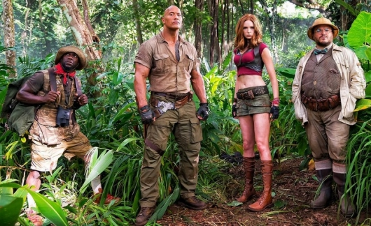Jumanji Starring The Rock, Kevin Hart, Karen Gillan, Jack Black
