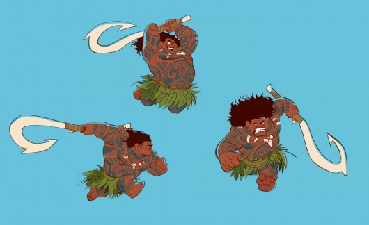 Maui designs for Moana