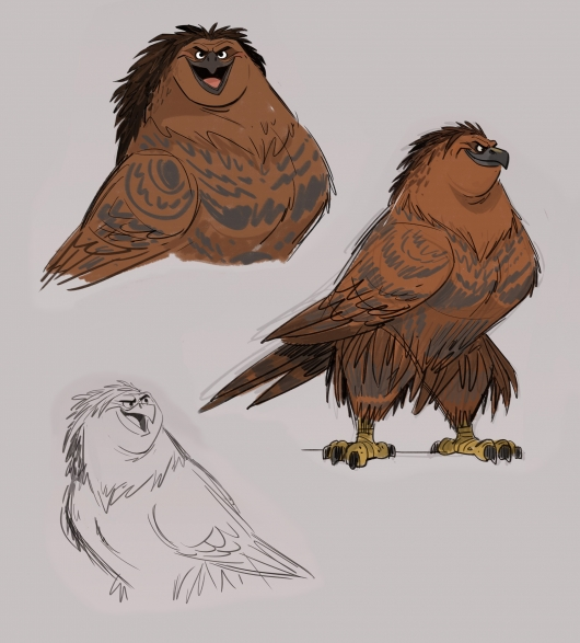 Moana, Maui as a hawk