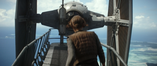 Rogue One Star Wars Jyn Erso vs Tie Fighter
