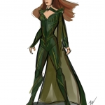 Justice League Mera sketch