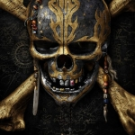 Pirates of the Caribbean: Dead Men Tell No Tales skull poster