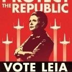 Star Wars Propaganda Vote Leia