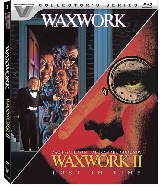 Waxwork and Waxwork II: Lost in Time (Vestron Horror Classics) Blu-Ray Cover Art