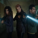 Dana Delorenzo as Kelly, Lucy Lawless as Ruby, Ray Santiago as Pablo