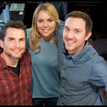 Second Nature director Michael Cross with stars Collette Wolfe and Sam Huntington
