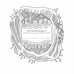 The Beauty of Horror coloring book preview 1