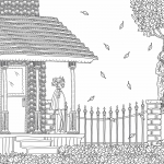 The Beauty of Horror coloring book preview 4