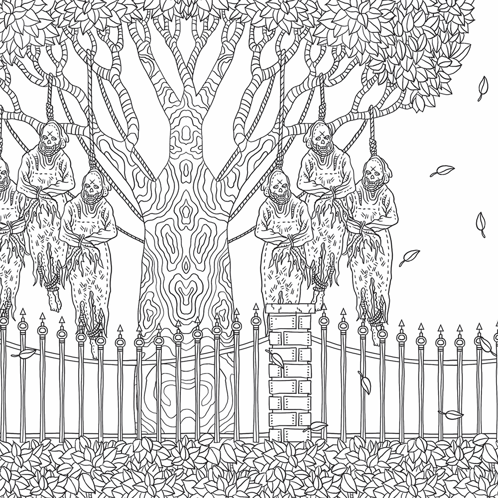 The Beauty Of Horror Coloring Book Preview 5