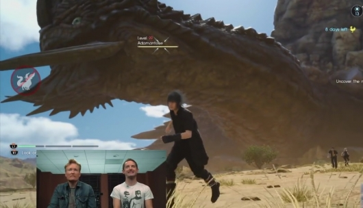 "Conan O'Brien and Elijah Wood Play Final Fantasy XV For ""Clueless Gamer"""