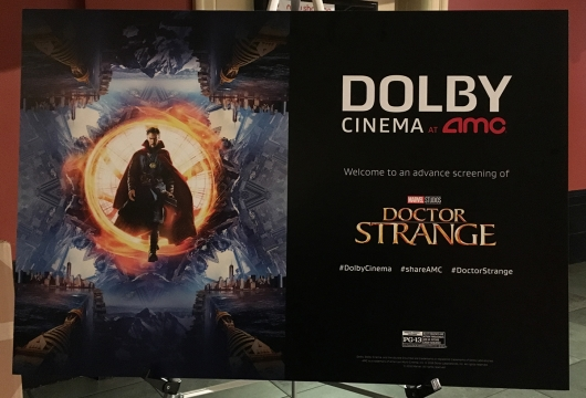 AMC Dolby Cinema Marvel Doctor Strange screening