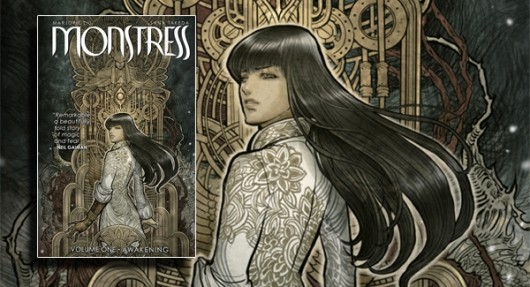 Monstress Volume 1: Awakening graphic novel banner