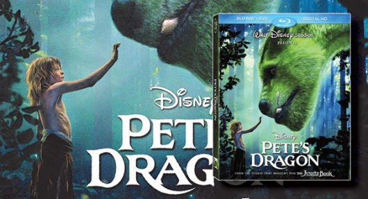 Pete's Dragon blu-ray banner