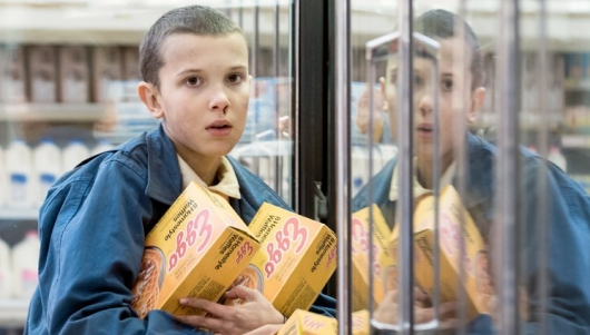 Millie Bobby Brown as Eleven in Netflix's Stranger Things