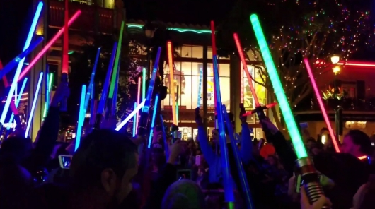 Carrie Fisher Lightsaber Vigil