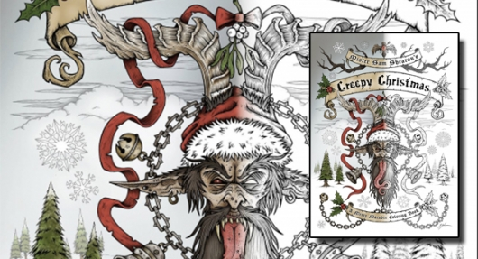Creepy Christmas: A Merry Macabre Coloring Book banner