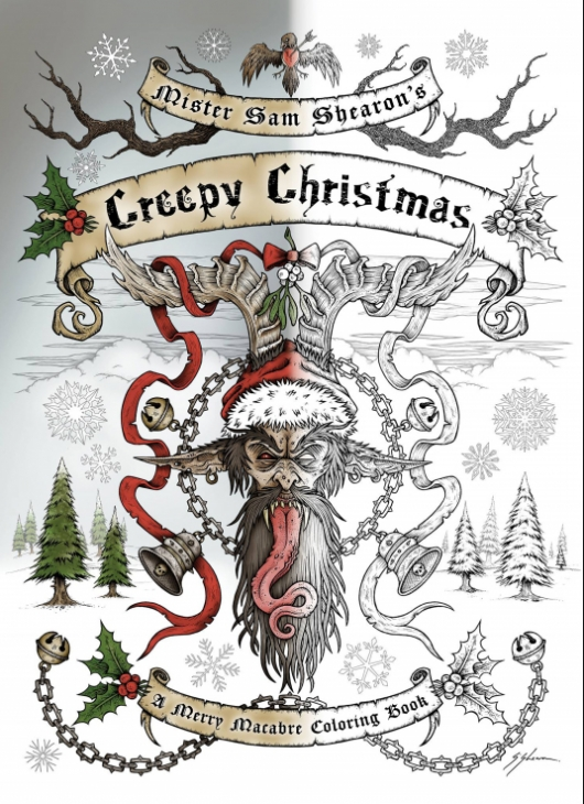 Creepy Christmas: A Merry Macabre Coloring Book cover