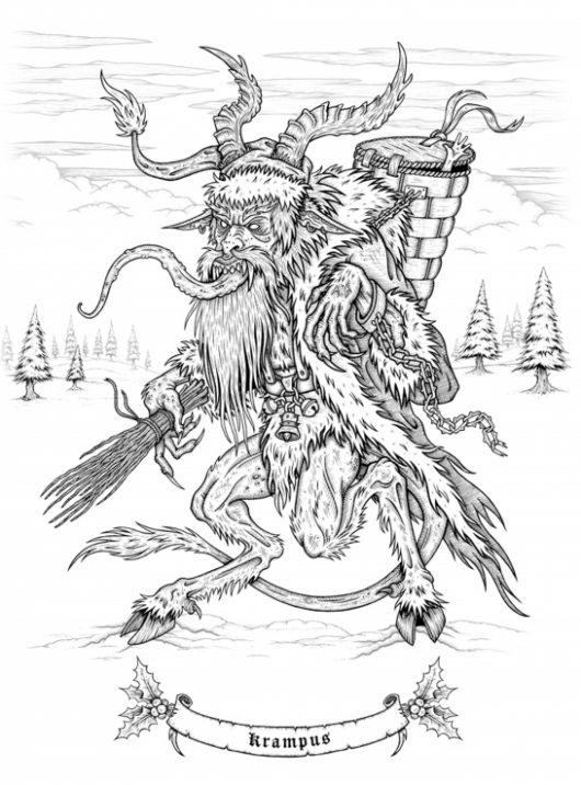 Creepy Christmas: A Merry Macabre Coloring Book preview page