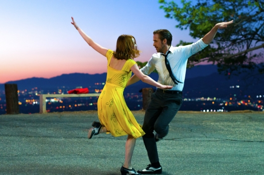 La La Land starring Emma Stone and Ryan Gosling