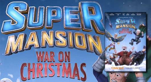 Crackle SuperMansion: War On Christmas banner 2016