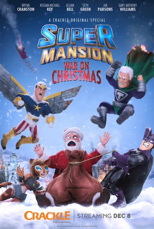 Crackle SuperMansion: War On Christmas poster 2016