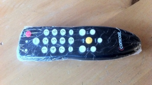 Remote Wrapped in Plastic