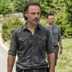 Andrew Lincoln as Rick Grimes, Ross Marquand as Aaron - The Walking Dead, Season 7, Episode 9