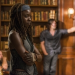 Norman Reedus as Daryl Dixon, Danai Gurira as Michonne- The Walking Dead, Season 7, Episode 9