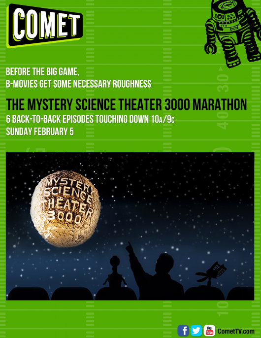 COMET TV Mystery Science Theater 3000 Super Bowl Sunday Marathon