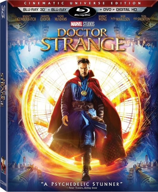 Doctor Strange 3D Blu-ray cover