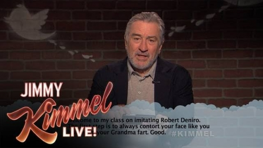 Jimmy Kimmel Mean Tweets Robert Deniro