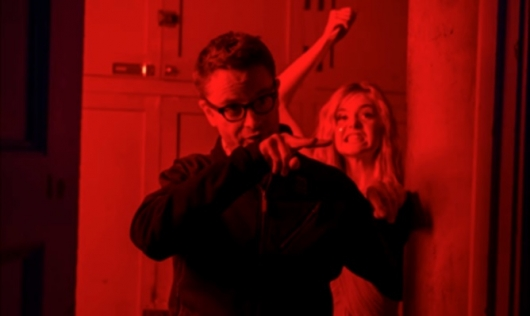 Nicolas Winding Refn and Elle Fanning On The Set Of The Neon Demon