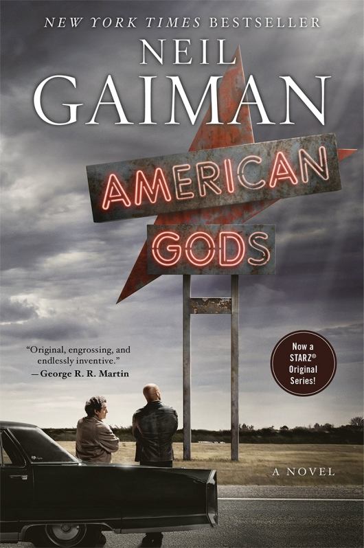Neil Gaiman American Gods TV Tie-In Paperback cover