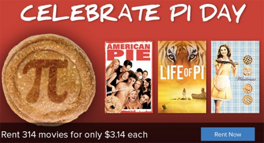 Pi Day sale FandangoNow