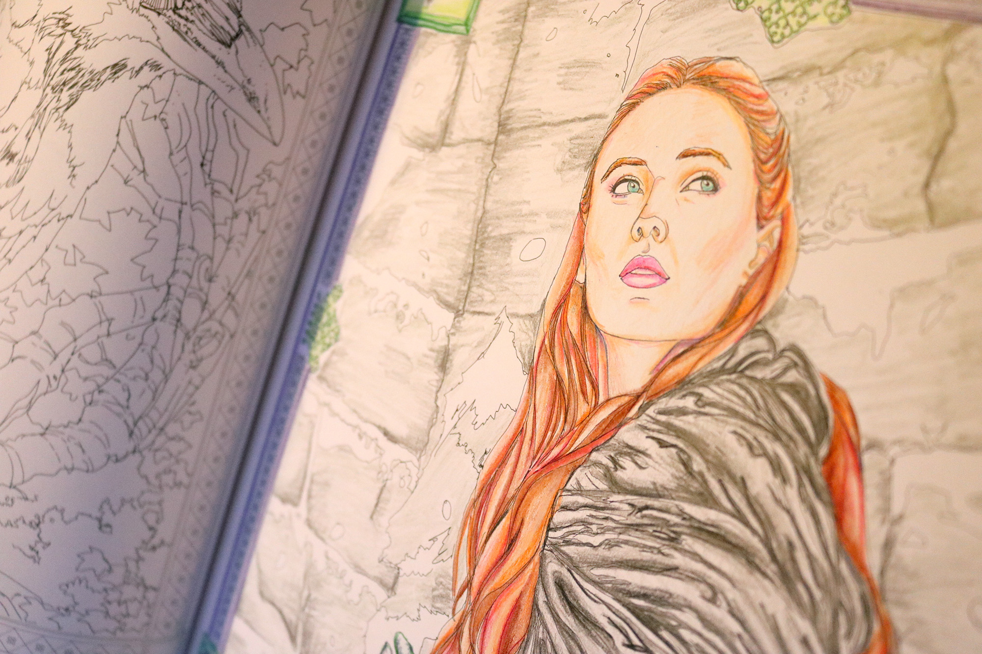 sansa stark game of thrones coloring book - Game Of Thrones Coloring Book