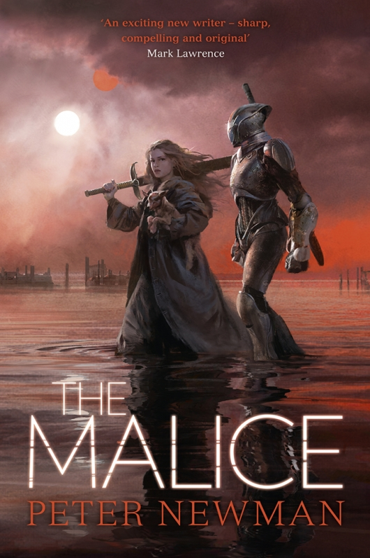 The Malice (The Vagrant #2) by Peter Newman book cover