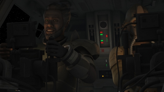 Saw Gerrera from Star Wars Rebels