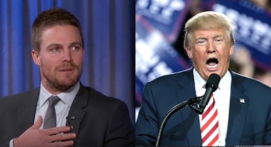 Stephen Amell Donald Trump April Fool's Day