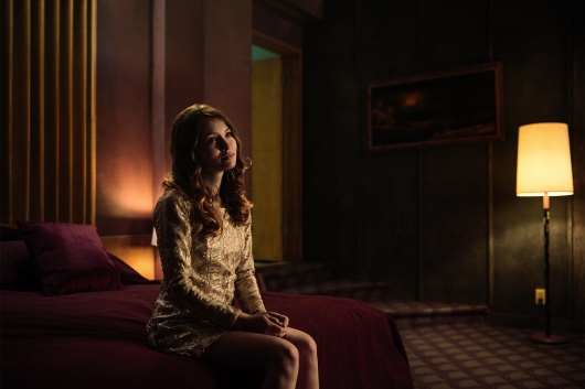 American Gods Laura Moon awaits Shadow in his hotel room