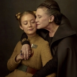 Carrie Fisher as Leia and Her Daughter Billie Lourd as Lieutenant Kaydel Connix For Star Wars: The Last Jedi Vanity Fair Shoot