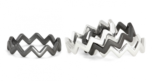 RockLove Twin Peaks Stacker Zigzag Rings