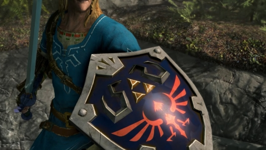 Zelda's Link in Skyrim for Nintendo Switch